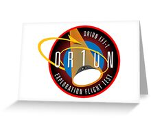 Orion: Flight Test 1 Logo Greeting Card
