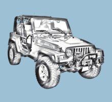Jeep Wrangler Rubicon Illustration Kids Tee