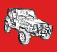 Jeep Wrangler Rubicon Illustration One Piece - Long Sleeve