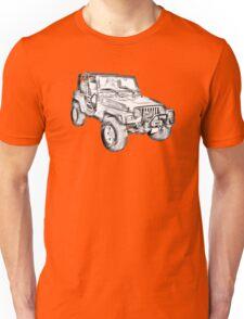 Jeep Wrangler Rubicon Illustration Unisex T-Shirt