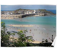 'Happy Days' St Ives, West Cornwall Poster