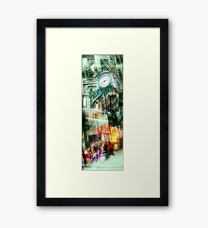marshall field's chicago Framed Print
