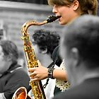 Alara on the sax. by GoldZilla