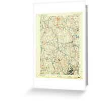 Massachusetts  USGS Historical Topo Map MA Worcester 353136 1892 62500 Greeting Card