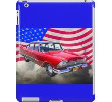 1958 Plymouth Savoy Car With American Flag iPad Case/Skin