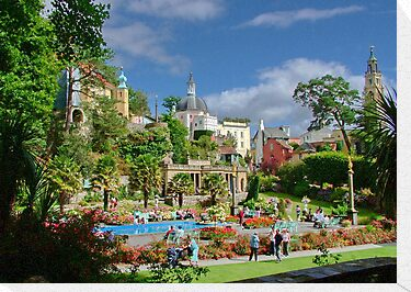 Central Plaza, Portmeirion, North Wales, UK by AnnDixon