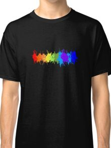 Customize rainbow paint splash drips gay pride geek funny nerd Classic T-Shirt