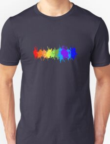 Customize rainbow paint splash drips gay pride geek funny nerd Unisex T-Shirt
