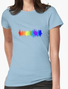 Customize rainbow paint splash drips gay pride geek funny nerd Womens Fitted T-Shirt
