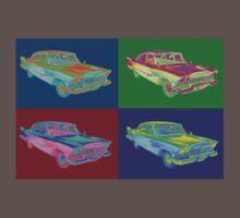 1958 Plymouth Savoy Classic Car Pop Art One Piece - Short Sleeve