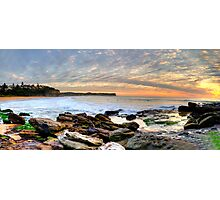 New World In The Morning - Warriewood Beach, Sydney - The HDR Experience Photographic Print
