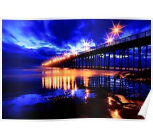 Oceanside Pier After Sunset Poster