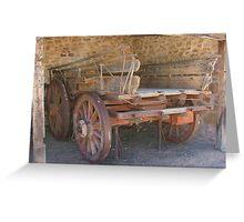 Cart at Alice Springs Greeting Card