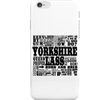 YORKSHIRE LASS BLACK PRINT iPhone Case/Skin