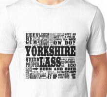 YORKSHIRE LASS BLACK PRINT Unisex T-Shirt