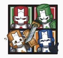 Castle Crashers Four-Square One Piece - Long Sleeve
