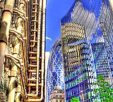 The Lloyds Building - The Gherkin - The Willis Building - HDR by Colin  Williams Photography