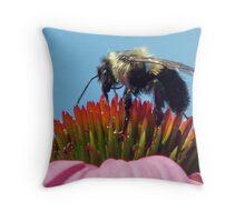 """gathering pollen"" Throw Pillow"