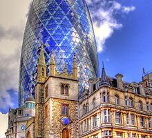 "30 St Mary Axe - The ""Gherkin"" - HDR by Colin  Williams Photography"