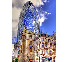 """30 St Mary Axe - The """"Gherkin"""" - HDR Photographic Print"""