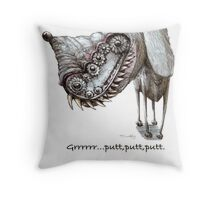 Grrrrrrrrrrr... putt putt putt - with text Throw Pillow