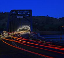 Bethanga Bridge night lights by John Vandeven