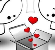 The valentine gift Sticker