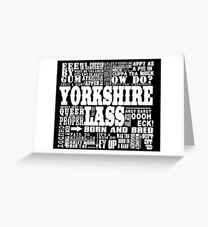 YORKSHIRE LASS WHITE PRINT Greeting Card