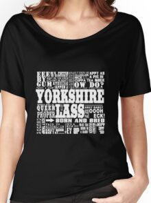 YORKSHIRE LASS WHITE PRINT Women's Relaxed Fit T-Shirt