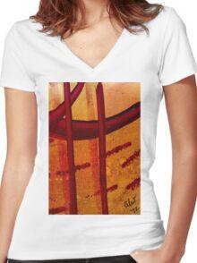 The Crosses Women's Fitted V-Neck T-Shirt