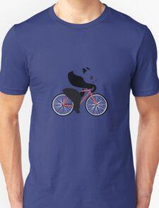 Cycling panda geek funny nerd Unisex T-Shirt