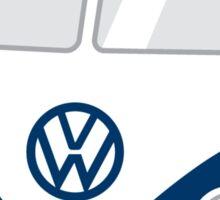 Cartoon VW Camper Sticker