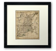 Bowles's Map of the Seat of War in New England (1776) Framed Print