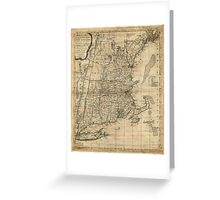 Bowles's Map of the Seat of War in New England (1776) Greeting Card