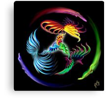 Color Fight Canvas Print