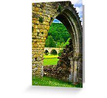 Through the Archway Greeting Card