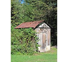 Gramma's Garden Shed Photographic Print