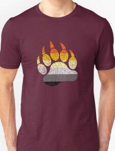 Distressed bear pride flag bear paw geek funny nerd Unisex T-Shirt