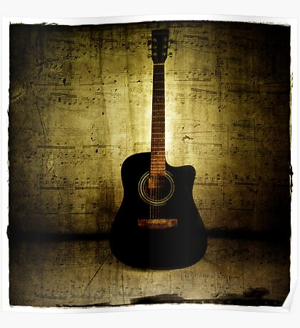 Grunge Guitar Poster
