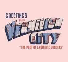 Greetings from Vermilion City One Piece - Short Sleeve