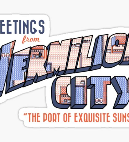 Greetings from Vermilion City Sticker