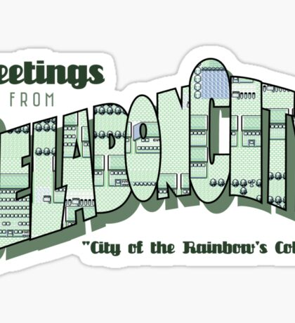 Greetings from Celadon City Sticker