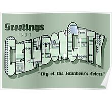 Greetings from Celadon City Poster