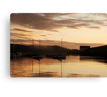 Misty, golden dawn - Baltimore, West Cork, Ireland Canvas Print