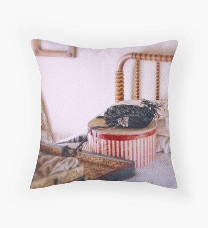 Traveler's Possessions Throw Pillow