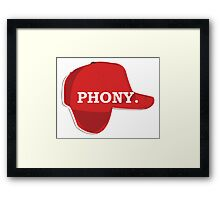 Catcher in the Rye Shirt – Holden Caufield, Phony Framed Print
