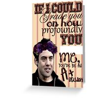 Chocolat Finstock [If I Could Grade You...] Greeting Card