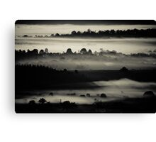 Black Layers of Morning Canvas Print