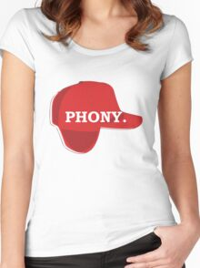 Catcher in the Rye Shirt – Holden Caufield, Phony Women's Fitted Scoop T-Shirt