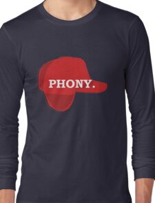 Catcher in the Rye Shirt – Holden Caufield, Phony Long Sleeve T-Shirt